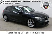 USED 2013 13 BMW 1 SERIES 2.0 120D M SPORT 3d AUTO 181 BHP Finished in stunning Black Sapphire Metallic with Black Alcantara Upholstery, Parking Sensors and Full BMW Service History. Bluetooth, DAB Radio, Stop/Start, Multi Function Wheel and Climate Control