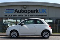 USED 2016 16 FIAT 500 1.2 LOUNGE 3d 69 BHP LOW DEPOSIT OR NO DEPOSIT FINANCE AVAILABLE
