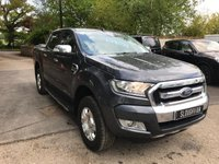 USED 2016 16 FORD RANGER 2.2 LIMITED 4X4 DCB TDCI  Satellite Navigation, Reverse Camera, Leather Seats