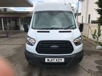 USED 2017 17 FORD TRANSIT 2.0 350 L3 H3 P/V DRW 1d 129 BHP LONG WHEEL BASE, HIGH ROOF, AIR CON, ELECTRIC PACK, STOP START FUNCTION