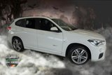 USED 2016 66 BMW X1 2.0 SDRIVE18D M SPORT 5d 148 BHP FINISHED IN STUNNING ALPINE WHITE WITH CONTRASTING DARK GREY ALCANTARA AND CLOTH SEATS HEADLINED WITH AZURE BLUE STITCHING + PIANO BLACK INTERIOR TRIM SURROUNDS + NEW SHAPE + 1 OWNER FROM NEW WITH AN IMPECCABLE FULL BMW SERVICE HISTORY + SATELLITE NAVIGATION + BLUETOOTH INCLUDING PHONE AND MEDIA CONNECTION + ADAPTIVE LED HEADLIGHTS + PARK ASSIST + DAB DIGITAL RADIO + HEATED FRONT SEATS + 18 INCH UNMARKED DIAMOND CUT ALLOY WHEELS + CRUISE CONTROL + DUAL ZONE, CLIMATE CONTROLLED AIR CONDITIONING +