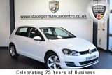 "USED 2014 64 VOLKSWAGEN GOLF 1.6 MATCH TDI BLUEMOTION TECHNOLOGY 5DR 103 BHP full service history FINISHED IN STUNNING PURE WHITE WITH CLOTH UPHOLSTERY + FULL SERVICE HISTORY + BLUETOOTH + DAB RADIO + CRUISE CONTROL + HEATED ELECTRIC FOLDING MIRRORS + USB/AUX PORT + PARKING SENSORS + 16"" ALLOY WHEELS"