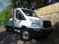 2015 FORD TRANSIT 2.2 350 C/C DRW 1d 124 BHP L3 H1 SINGLE CAB DROPSIDE  BODY £10990.00