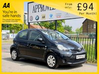 USED 2013 13 TOYOTA AYGO 1.0 VVT-I ICE 5d 68 BHP 0% Deposit Plans Available even if you Have Poor/Bad Credit or Low Credit Score, APPLY NOW!