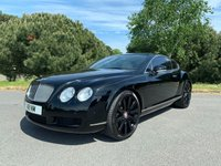 "USED 2007 57 BENTLEY CONTINENTAL 6.0 GT 2d AUTO 550 BHP IN THE BEST COLOUR SCHEME OF BLACK WITH CONTRASTING CREAM LEATHER AND 21"" BLACK ALLOYS 65000 MILES BACKED UP BY AN EXCELLENT SERVICE HISTORY"