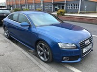 USED 2011 11 AUDI A5 2.0 SPORTBACK TFSI S LINE 5d 208 BHP Stunning A5 60,000 miles, leather, alloys, superb.