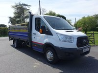 USED 2015 65 FORD TRANSIT 350 L4 EX LWB DROPSIDE WITH TAILIFT  DRW 2.2TDCI 100 BHP Direct From Leasing Company With Only 3000 Miles & FSH, Fitted With One Stop Extra LWB Dropside Body And Mesh Style 500 Kg Tailift, + Air Con & Rear Camera, First Class Example!