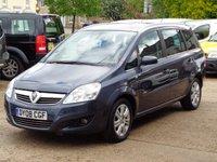 2008 VAUXHALL ZAFIRA 1.8 DESIGN 16V 5d 140 BHP £2250.00