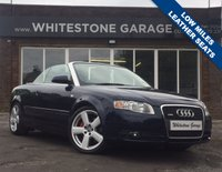 USED 2006 06 AUDI A4 1.8 T SPORT 2d 161 BHP 51000 MILES, ELECTRIC CONVERTIBLE ROOF, LEATHER TRIM, CD MULTICHANGER, 2 KEYS.