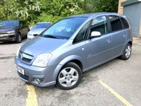 USED 2008 08 VAUXHALL MERIVA 1.6 DESIGN 16V 5d TWIN SUN ROOFS, AIR CON, DEALER PX TO CLEAR DEALER PART EX STOCK CLEARANCE, VERY CLEAN EXAMPLE