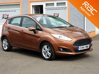 "USED 2014 14 FORD FIESTA 1.5 ZETEC TDCI 5d 74 BHP Parking Sensors, 15"" Alloys, 4 Service Stamps, Mega Economy"