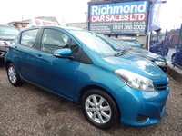 USED 2012 62 TOYOTA YARIS 1.3 VVT-I TR 5d AUTO 98 BHP AUTOMATIC, REVERSE CAMERA, F.S.H