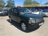 USED 2004 53 LAND ROVER RANGE ROVER 4.4 V8 VOGUE 5d AUTO 282 BHP IN METALLIC GREEN WITH 110000 MILES WITH LPG FITTED IN GREAT CONDITION (TRADE CLEARANCE) APPROVED CARS ARE PLEASED TO OFFER THIS  LAND ROVER RANGE ROVER 4.4 V8 VOGUE 5d AUTO 282 BHP IN METALLIC GREEN WITH PIPED LEATHER INTERIOR IN A GOOD CONDITION WITH A HIGH SPEC INCLUDING SAT NAV AND A SUN ROOF WITH 110000 MILES BUT DUE TO ITS AGE AND MILEAGE IS BEING OFFERED AS TRADE CLEARANCE CAR WITH AN MOT UNTIL 21/02/19 WITH A FULL SERVICE HISTORY WITH 12 MAIN DEALER SERVICE STAMPS AND ALSO THIS CAR IS FITTED WITH WINTER TYRES ONE NOT TO MISSED AT THIS PRICE.
