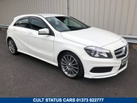 "USED 2013 63 MERCEDES-BENZ A CLASS 1.8 A200 CDI BLUEEFFICIENCY AMG SPORT 5d 136 BHP FULL HISTORY, HEATED SEATS, 18"" ALLOYS"