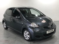 USED 2011 11 TOYOTA AYGO 1.0 VVT-I GO 5d 67 BHP WITH BUILT IN COLOUR TOM TOM SAT NAV SYSTEM