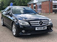 USED 2009 09 MERCEDES-BENZ C CLASS 2.1 C220 CDI SPORT 4d AUTO 168 BHP HALF LEATHER +   PARKING AID +  PRIVACY GLASS +   MOT APRIL 2020 +  SERVICE RECORD +