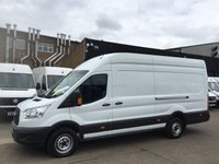 USED 2017 66 FORD TRANSIT 2.2TDCI T350 L4 JUMBO LWB HIGH ROOF 125BHP. FORD WARRANTY. EURO 6. FORD WARRANTY 2020. LOW 33K MILES. FINANCE. PX