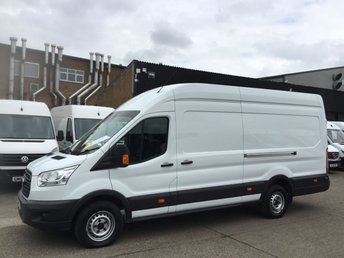 2017 FORD TRANSIT 2.2TDCI T350 L4 JUMBO LWB HIGH ROOF 125BHP. FORD WARRANTY. £13490.00