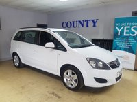 USED 2013 63 VAUXHALL ZAFIRA 1.6 EXCLUSIV 5d 113 BHP * ONE OWNER * F.S.H *