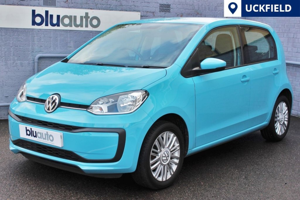 """USED 2016 66 VOLKSWAGEN UP 1.0 MOVE UP 5d A stunning teal blue example of VW's award winning city car; 15"""" Silver Alloys, DAB Radio, Bluetooth with Audio Streaming, SD Card input & Air-Con with 1 Lady Owner & Full VW History..."""