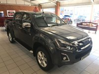 USED 2019 19 ISUZU D-MAX 1.9 YUKON DCB NAV PLUS 4d AUTO 161 BHP IN GALENA GREY BRAND NEW + VAT AT 20% APPROVED CARS AND FINANCE ARE PLEASED TO OFFER THIS NEW ISUZU D-MAX 1.9 DCB NAV + 4 DOOR AUTOMATIC 161 BHP IN GALENA GREY WITH DELIVERY MILES. THIS VEHICLE HAS NO ADBLUE, A TOWING CAPABILITY OF 3.5 TONNES AND 1.1 TON IN THE PAYLOAD AND A COMBINED MPG FOR 40 MPG. THIS VEHICLE HAS GOT A GREAT SPEC SUCH AS BLUETOOTH, SAT NAV, TOUCHSCREEN DISPLAY, ELECTRIC FOLD IN MIRRORS, AIR CON AND MUCH MORE. THIS IS A PERFECT MIXTURE OF A LIFESTYLE TRUCK AND A WORKHORSE A VEHICLE THAT CAN DO BOTH, IN A BEAUTIFUL