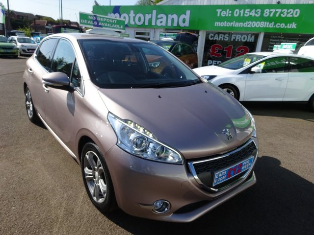 USED 2012 62 PEUGEOT 208 1.4 ALLURE HDI 5d 68 BHP ** ZERO ROAD TAX ** JUST ARRIVED ** 01543 877320