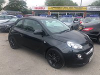 2015 VAUXHALL ADAM 1.4 JAM 3d 85 BHP IN BLACK WITH ONLY 24000 MILES GOOD CONDITION CAT D ALLOYS PART EX TO CLEAR £3799.00