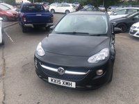 USED 2015 15 VAUXHALL ADAM 1.4 JAM 3d 85 BHP IN BLACK WITH ONLY 24000 MILES GOOD CONDITION CAT D ALLOYS PART EX TO CLEAR APPROVED CARS AND FINANCE ARE PLEASED TO OFFER OUR VAUXHALL ADAM 1.4 JAM 3 DOOR 85 BHP IN BLACK. GOOD SPEC ON THIS CAR INCLUDING ABS,AIR CON,METALLIC PAINT,CD PLAYER,CLIMATE CONTROL,MULTI FUNCTION STEERING WHEEL WITH ONLY 24000 MILES IN GOOD CONDITION ALL ROUND BUT DUE TO THE FACT THAT THIS CAR IS A CATEGORY D WE ARE OFFERING THE VEHICLE ON A TRADE CLEARANCE BASIS. PLEASE CALL 01622-871-555 TO BOOK A TEST DRIVE TODAY.