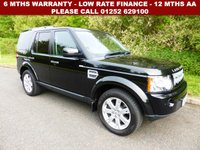 USED 2011 11 LAND ROVER DISCOVERY 3.0 4 SDV6 XS 5d AUTO 245 BHP All retail cars sold are fully prepared and include - Oil & filter service, 6 months warranty, minimum 6 months Mot, 12 months AA breakdown cover, HPI vehicle check assuring you that your new vehicle will have no registered accident claims reported, or any outstanding finance, Government VOSA Mot mileage check.     Because we are an AA approved dealer, all our vehicles come with free AA breakdown cover and a free AA history check. Low rate finance available. Up to 3 years warranty available.