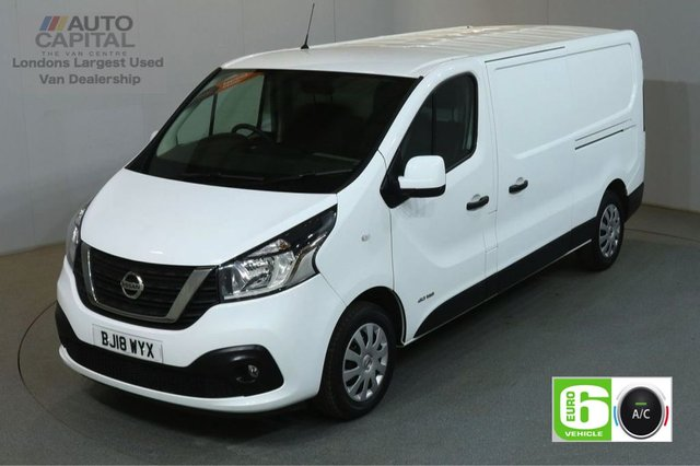 2018 18 NISSAN NV300 1.6 DCI ACENTA L2H1 LWB 124 BHP EURO 6 ENGINE MANUFACTURER WARRANTY UNTIL 30/03/2021