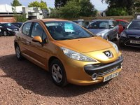 USED 2008 08 PEUGEOT 207 1.4 SPORT 5d 94 BHP LOW MILEAGE,WITH SERVICE HISTORY
