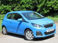 USED 2016 16 PEUGEOT 108 1.0 ACTIVE 3d 68 BHP LOW MILEAGE, TOUCH SCREEN MEDIA