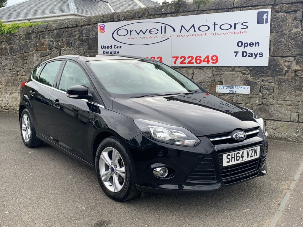 USED 2014 64 FORD FOCUS 1.6 ZETEC 5d 104 BHP 2 OWNERS FROM NEW+SERVICE HISTORY+BLUETOOTH+FINANCE AVAILABLE