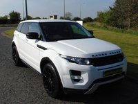 USED 2013 13 LAND ROVER RANGE ROVER EVOQUE 2.2 SD4 DYNAMIC 5d AUTO 190 BHP BLACK & RED LEATHER, SAT NAV, DAB RADIO
