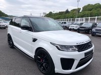 USED 2018 18 LAND ROVER RANGE ROVER SPORT 5.0 SVR 5d 567 BHP Under 2,000 miles by one owner facelift model