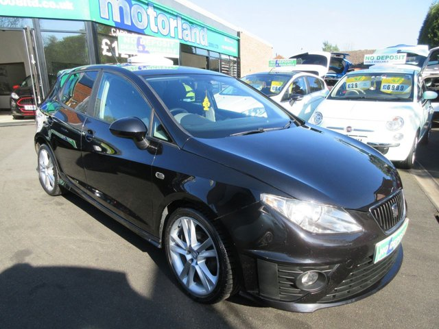 USED 2009 09 SEAT IBIZA 1.4 BLACK SPORT 5d 85 BHP ** 01543 379066 ** JUST ARRIVED **