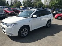 USED 2015 MITSUBISHI OUTLANDER 2.0 PHEV GX 3H 5d AUTO 162 BHP IN METALLIC WHITE WITH A FULL MAIN DEALER HISTORY AND 89,000 MILES APPROVED CARS AND FINANCE ARE PLEASED TO OFFER THIS MITSUBISHI OUTLANDER 2.0 PHEV GX 3H 5 DOOR AUTOMATIC 162 BHP IN METALLIC WHITE WITH A FULL MAIN DELAER HISTORY AND 89,000 MILES, THIS VEHICLE HAS BEEN SERVICED AT 12K, 25K, 38K, 50K, 63K, AND 76K SO A WELL MAINTAINED VEHICLE. THIS VEHICLE HAS GOT A MASSIVE SPEC SUCH AS BLUETOOTH, LEATHER, FULL AUTOMATIC GEARBOX, CRUISE CONTROL, ELECTRIC FOLD IN MIRRORS AND MUCH MORE. NOT A VEHICLE TO BE MISSED OUT OF COMES WITH ELCTRONIC HOME CHARGER FIRST TO V