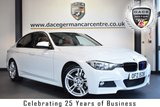 """USED 2013 BMW 3 SERIES 3.0 330D M SPORT 4DR 255 BHP full service history FINISHED IN STUNNING ALPINE WHITE WITH FULL RED LEATHER INTERIOR + FULL SERVICE HISTORY + SATELLITE NAVIGATION + BLUETOOTH + DAB RADIO + LIGHT PACKAGE + CRUISE CONTROL + SPORT SEATS + RAIN SENSORS + AUTO AIR CON + FOG LIGHTS + PARKING SENSORS + 18"""" ALLOY WHEELS"""