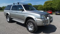 USED 2003 53 MITSUBISHI L200 2.5 TD 4WD LWB WARRIOR DCB 1d 114 BHP £2695+VAT,ALLOY-WHEELS, AIR-CONDITIONING, CENTRAL LOCKING, ELECTRIC WINDOWS, FULL LEATHER TRIM, ELECTIC MIRRORS, METALLIC PAINT, PARTIAL SERVICE HISTORY, POPULAR 4X4