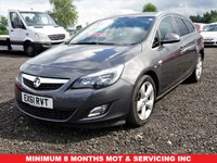USED 2012 61 VAUXHALL ASTRA 1.6 SRI 5d 113 BHP CAM/TIMING BELT REPLACED,MOT,SERVICE,WARRANTY INCLUDED