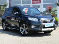 USED 2010 60 TOYOTA RAV4 2.2 SR D-CAT 5d AUTO 150 BHP STUNNING, 4X4 TOYOTA RAV4 2.2D SR AUTO 150 BHP. Finished in DARK STEEL BLUE with contrasting Black Heated Leather and Alcantara trim. This Rav 4 is practical and very roomy. It has plenty of high spec and with its adjustable rear seats makes it very versitile. Features include SAT NAV, REAR VIEW CAMERA, B/TOOTH, PARK SENSORS, HEATED LEATHER SEATS and much more