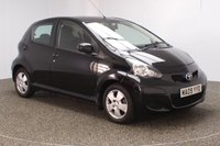 USED 2009 09 TOYOTA AYGO 1.0 BLACK VVT-I 5DR 67 BHP £20 12 MONTHS ROAD TAX + HALF LEATHER SEATS + AIR CONDITIONING + RADIO/CD/AUX + ELECTRIC WINDOWS + 14 INCH ALLOY WHEELS