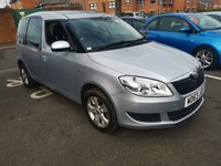 USED 2014 63 SKODA ROOMSTER 1.2 SE TSI 5d 84 BHP 19237 MILES ONLY!..EXCELLENT SPECIFICATION INCLUDING  PARKING SENSORS, AIR CONDITIONING, ALLOY WHEELS, AND AUXILLIARY/USB!...CHEAP TO RUN ,LOW CO2 EMISSIONS, LOW ROAD TAX, AND EXCELLENT FUEL ECONOMY, MEETS ALL LARGE CITY EMISSION STANDARDS