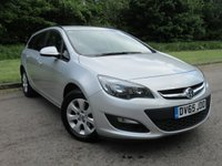 USED 2015 65 VAUXHALL ASTRA 1.6 DESIGN CDTI ECOFLEX S/S 5d 108 BHP FULL SERVICE HISTORY AND LOW MILEAGE