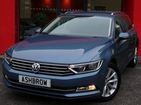 USED 2015 15 VOLKSWAGEN PASSAT ESTATE 2.0 TDI SE BUSINESS BLUEMOTION TECH 5d 150 S/S SAT NAV, FRONT & REAR PARKING SENSORS WITH DISPLAY, DAB RADIO, BLUETOOTH PHONE & MUSIC STREAMING, ADAPTIVE CRUISE CONTROL WITH FRONT ASSIST, FRONT FOG LIGHTS, ALUMINIUM ROOF RAILS, 17 INCH 10 SPOKE ALLOYS, TINTED GLASS, GREY CLOTH INTERIOR, LEATHER MULTIFUNCTION STEERING WHEEL, ELECTRIC HEATED FOLDING MIRRORS, LIGHT & RAIN SENSORS, KEYLESS START, AIR CONDITIONING, AUTO HILL HOLD, DRIVING MODE SELECT, AUX & USB INPUTS, PARTIALLY ELECTRIC DRIVERS SEAT WITH LUMBAR SUPPORT, SERVICE HIST, £20 ROADTAX