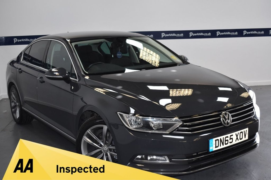USED 2015 65 VOLKSWAGEN PASSAT 2.0 GT TDI BLUEMOTION TECHNOLOGY 4d 150 BHP (ONE OWNER BFROM NEW)