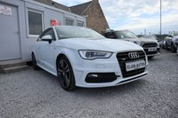 USED 2012 62 AUDI A3 S Line 2.0 TDI 3dr ( 150 bhp ) Stunning Car Glacier White Full Service History Top Spec £20 Road Tax
