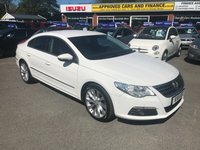 2011 VOLKSWAGEN PASSAT 2.0 CC GT TDI BLUEMOTION TECHNOLOGY 4 DOOR 168 BHP IN WHITE WITH A FULL BROWN UPGRADED LEATHER INTERIOR. £6299.00