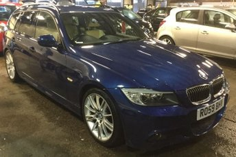 """2009 BMW 3 SERIES 3.0 330I M SPORT TOURING 5d AUTO 269 BHP NAVIGATION INDIVIDUAL HEATED LEATHER 18""""ALLOYS BLUTOOTH  £11490.00"""