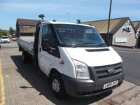 2009 FORD TRANSIT 2.4 350 E/F DRW 115 BHP Long extended Drop side, Rear Tail Lift, Air con £4999.00